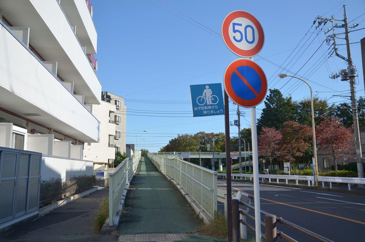 歩きやすく安全な歩道橋が整備されています